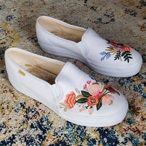 Keds Rifle Paper Co. Embroidered Flower Sneakers